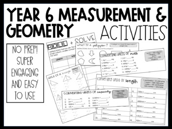 Year 6: Measurement and Geometry - GROWING PACK