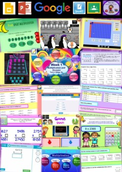 Year 6 Multiplication and Division Smart Notebook and Unit of Work Bundle 1