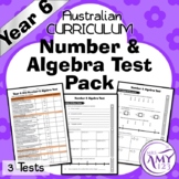 Year 6 Number & Algebra Maths Test Pack - Australian Curriculum