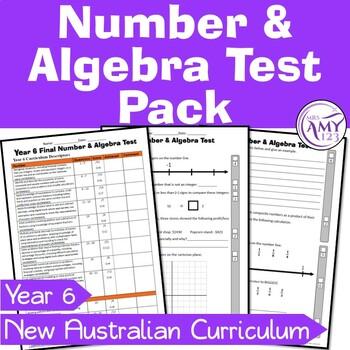 Year 6 Number & Algebra Maths Test Pack - Australian Curriculum