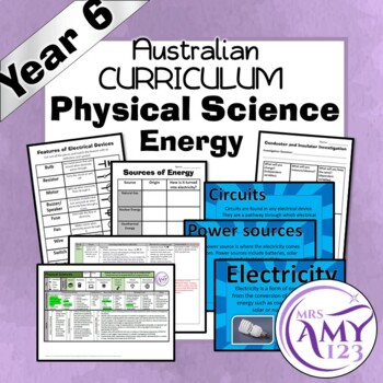 Year 6 Physical Science- Living Things- Australian Curriculum