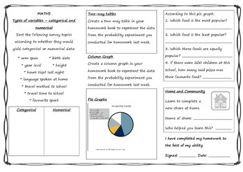 Year 6 Queensland Homework Sheets For Unit 1 English Maths Tpt