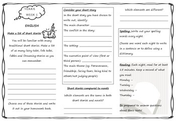 Year 6 Queensland Homework Sheets for Unit 1 English & Maths