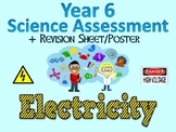 Year 6 Science Assessment: Electricity + Poster