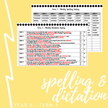 Year 6 Spelling and Dictation