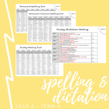 Year 6 Spelling and Dictation // with differentiation