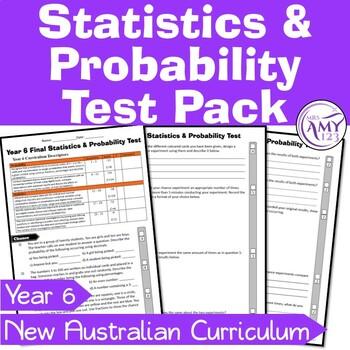 Year 6 Statistics & Probability Maths Test Pack- Australia