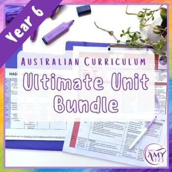 Year 6 Ultimate Bundle- Australian Curriculum Units and Maths Test