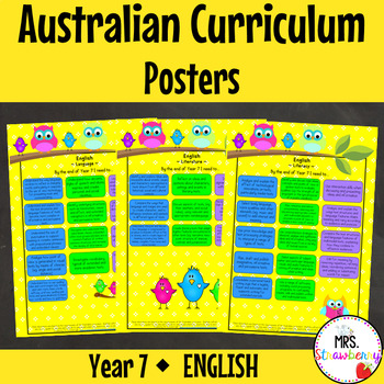 Year 7 Australian Curriculum Posters – English