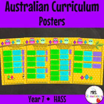 Year 7 Australian Curriculum Posters – Humanities and Social Sciences {HASS}
