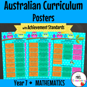 Year 7 Australian Curriculum Posters – Mathematics {with Achievement  Standards}