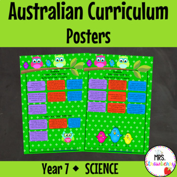 Year 7 Australian Curriculum Posters – Science