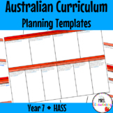 Year 7 Australian Curriculum Planning Templates: HASS - EDITABLE
