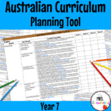 Year 7 Australian Curriculum Planning Tool