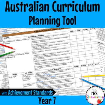 Year 7 Australian Curriculum Planning Tool – with Achievem