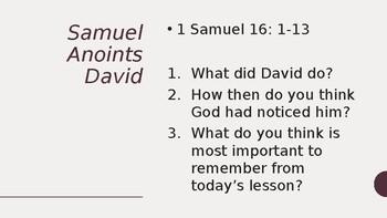 Year 7 Christian Life David and Goliath