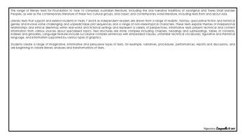 Year 7 English (Black & White) | Australian Curriculum Checklist
