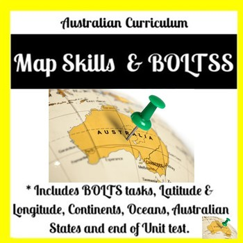 Year 7 Geography Mapping Tasks & Tests (Australian Curriculum + Rubric)