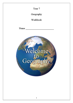 Year 7 Geography Student Booklet
