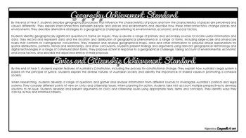 Year 7 HASS (Black & White)   Australian Curriculum Checklist