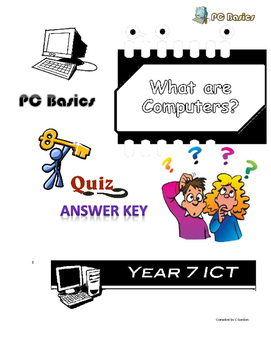 Grade 7 Year 7 ICT Computer Basic Quizzes ICT Answer Key