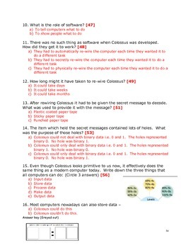 FREE-Grade 7 Year 7 ICT Computer Basics Colossus d ICT Workbook