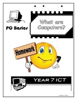 Grade 7 Year 7 ICT Computer Basics ICT Homework Booklet