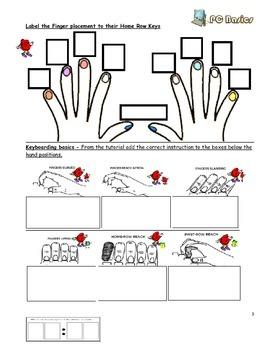 FREE-Grade 7 Year 7 ICT Computer Basics Keyboarding a  ICT Workbook