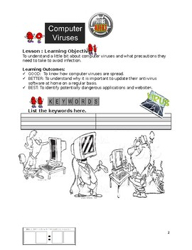 Grade 7 Year 7 ICT Computer Basics Viruses C ICT Workbook