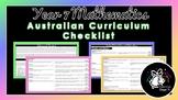 Year 7 Mathematics   Australian Curriculum Checklist
