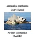 Australian Year 7 Maths Outcomes Checklist