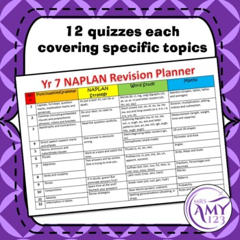 NAPLAN Revision Quizzes-Year 7