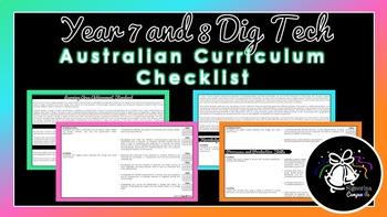 Year 7 and 8 Digital Technologies   Australian Curriculum Checklist