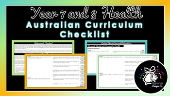 Year 7 and 8 Health | Australian Curriculum Checklist