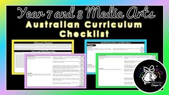 Year 7 and 8 Media Arts | Australian Curriculum Checklist