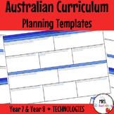 Year 7 and Year 8 Australian Curriculum Planning Templates: Technologies