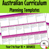 Year 7 to Year 10 JAPANESE Australian Curriculum Planning