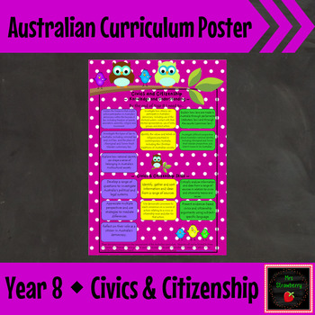 Year 8 Australian Curriculum Posters – Civics and Citizenship