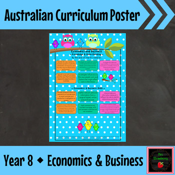 Year 8 Australian Curriculum Posters – Economics and Business