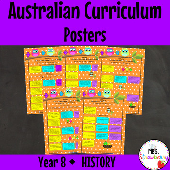 Year 8 Australian Curriculum Posters - History