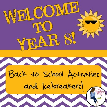 Year 8 Back to School Activities and Icebreakers
