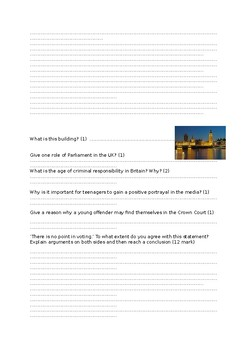 Year 8 Citizenship and RE assessment