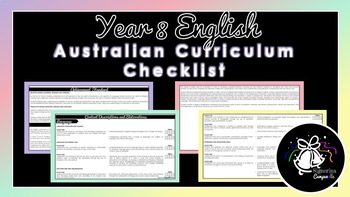 Year 8 English   Australian Curriculum Checklist