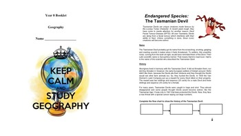 Year 8 Geography Student Booklet