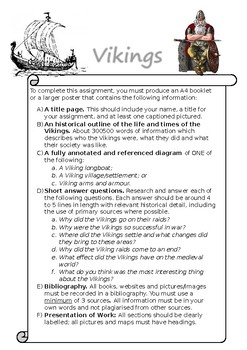 Year 8 History Viking Assessment