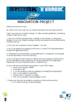 Year 8 Information Technology - Shark Tank Report