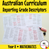 Year 8 MATHEMATICS Australian Curriculum Reporting Grade D