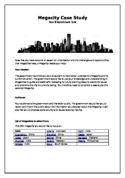 Year 8 Megacity Case Study Assignment