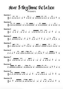 Year 8 Rhythmic Dictation Exercises + Audio Files