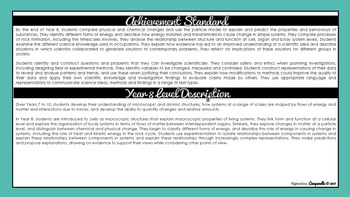 Year 8 Science   Australian Curriculum Checklist